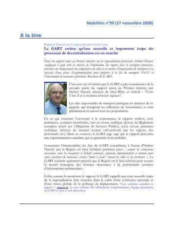 100 Mobilités n°60 (1er mars 2007) - Gart