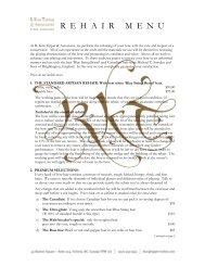 Rehair menu - R. Kim Tipper & Associates Fine Violins
