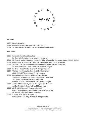CV - Galerie Waldburger
