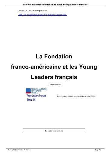 La Fondation franco-américaine et les Young Leaders français
