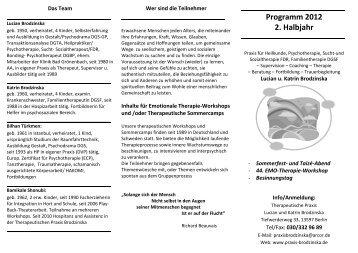 Programm 2012 2.  Halbjahr - praxis-brodzinska.de