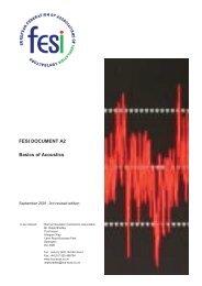 FESI DOCUMENT A2 Basics of Acoustics