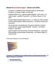 ebook-Programm Fruehling Sommer 2015 englisch Mechatronik Technik EDV Nachschlagewerke (Woerterbuch-Neuerscheinungen