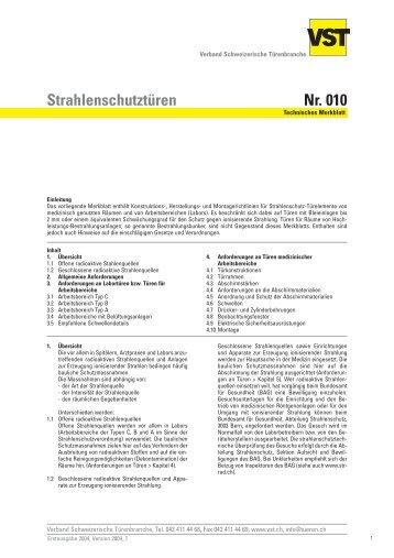 Strahlenschutztüren Nr. 010 - Brunex