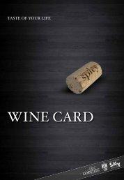 WINE CARD - SkyBar