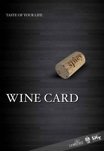 WINE CARD - SkyBar