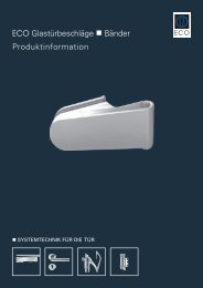 Glastürtechnik - ECO-Schulte