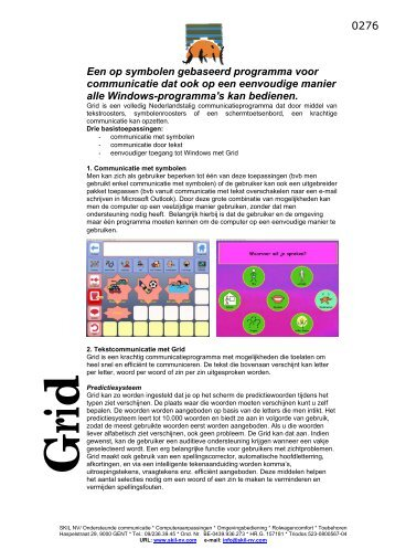 Klik op deze link voor meer informatie over Grid 2 - Eerste Hulp bij ...