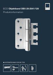 ECO Objektband OBX-20-2541/120 Produktinformation - ECO-Schulte