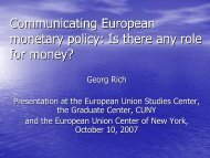 Communicating European monetary policy: Is there ... - richcons.ch