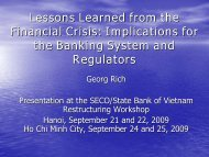 Lessons Learned from the Financial Crisis ... - richcons.ch