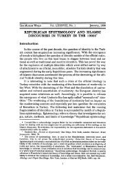 republican epistemology and islamic discourses in turkey ... - myWeb