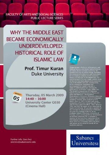 Orta Doğu'nun Ekonomik Geri Kalmışlığında İslam ... - myWeb