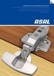 möbelbeschläge und oberflächentechnik befestigungstechnik - Asal