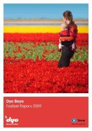 2009 Yılı Faaliyet Raporu - Dyo