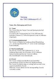 Download als PDF (61 kb) - TSG Luebbenau 63 eV