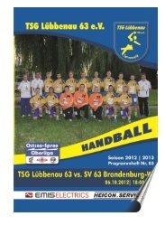 Vorschau aktuelles Spiel I - TSG Lübbenau Handball