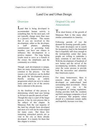 Land Use and Urban Design - City of Manassas Park