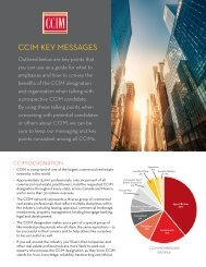CCIM Key Messages Brochure - CCIM Institute