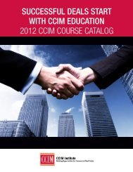 Download the 2012 CCIM Course Catalog - CCIM Institute
