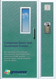 Composite Doors and Aluminium Frames - Grosvenor Telecom