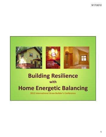 Ingrid's presentation on Home Energetic Balancing - 2012 ...