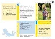 Angebote für Familien Herbst 2011 Junge Eltern/Familien - Amt für ...