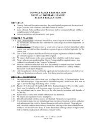 to download the flag football rules & regulations - Conway Parks ...