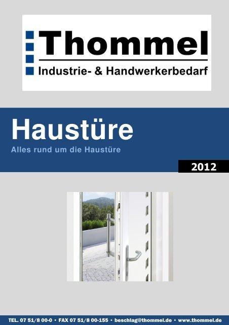 Haustüre Alles rund um die Haustüre 2012 - Thommel
