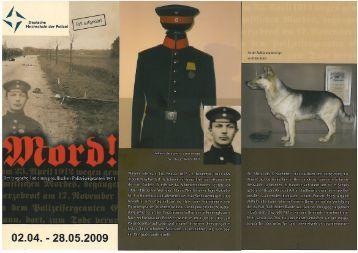 Flyer zur Ausstellung - Cop2Cop