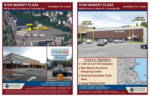 star market plaza star market plaza - Eastern Retail Properties