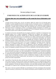 unir pour une alternative de gauche en europe - European LEFT