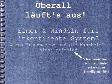 Eimer & Windeln fürs inkontinente System?