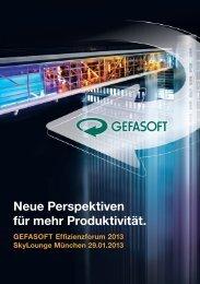 Neue Perspektiven für mehr Produktivität. - GEFASOFT AG