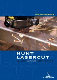 HUNT LASERCUT Information Brochure - Hunt Engineering