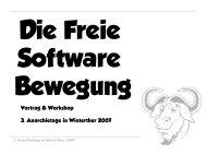 Vortrag & Workshop 3. Anarchietage in Winterthur 2007
