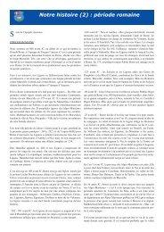 Notre histoire (2) : période romaine - Le Mas