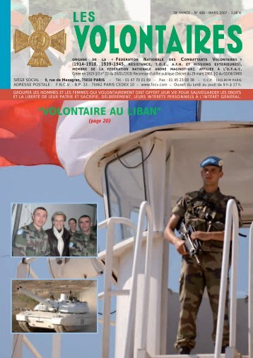 """""""VOLONTAIRE AU LIBAN"""" - fncv.com"""