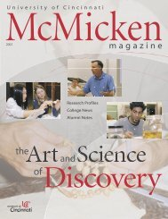 '70s - '80s - McMicken College of Arts & Sciences - University of ...