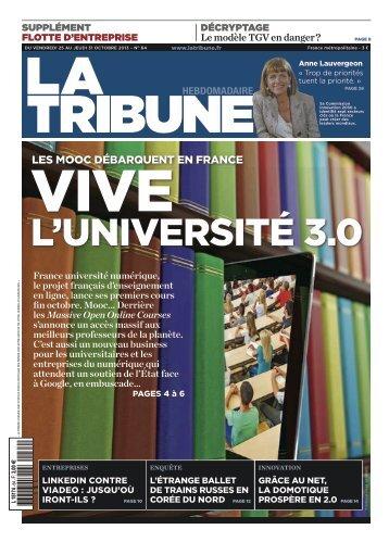 LES MOOC DÉBARQUENT EN FRANCE - La Tribune