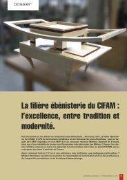 La filière ébénisterie du CIFAM : l'excellence, entre ... - Mot de passe