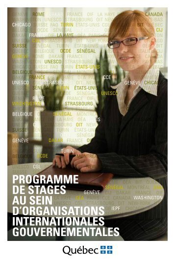 programme de stages au sein d'organisations internationales ...