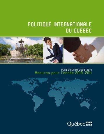 Mesures pour l'année 2010-2011 - Ministère des Relations ...