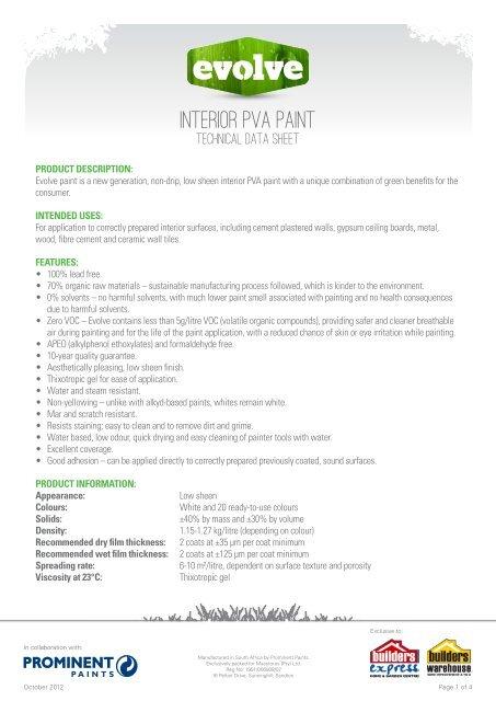 26287-EVOLVE-INTERIOR-PVA-PAINT-DATA-SHEET