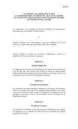 accord de collaboration entre la commission des accidents du travail ...