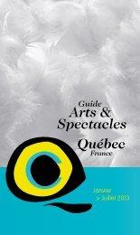 Guide Arts & Spectacles - Ministère des Relations internationales