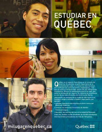 estudiar a Québec - Ministère des Relations internationales
