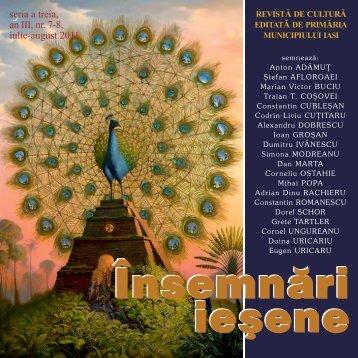 seria a treia, an III, nr. 7-8, iulie-august 2011 - Insemnari Iesene