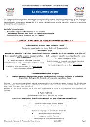 081017 Fiche Document Unique - Chambre de Métiers et de l ...