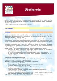 Fiche GEOTHERMIE